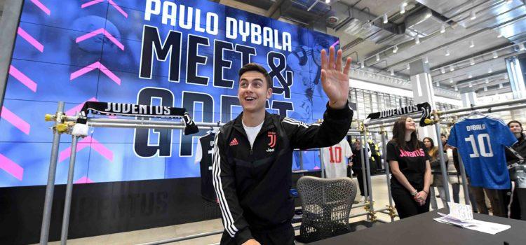 حضور دیبالا در فروشگاه بزرگ باشگاه یوونتوس