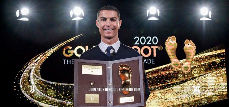 رونالدو جایزه ی پای طلایی را دریافت کرد